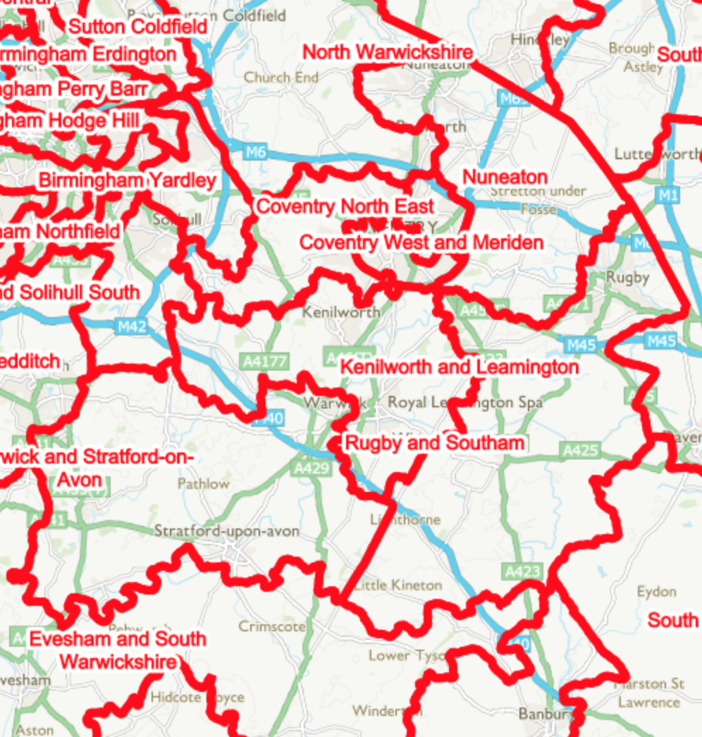 Coventry ward (geography gathering information)?
